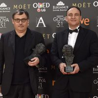 Pau Costa y Felix Berger ganadores del Goya 2017 a Mejores Efectos Especiales por 'Un monstruo viene a verme'