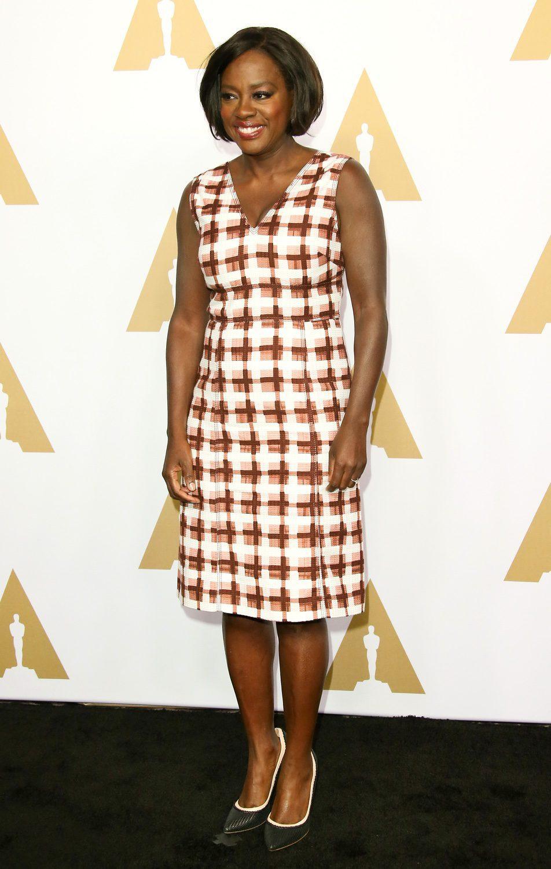 Viola Davis en la Comida Anual de los Nominados en los Premios Oscar 2017