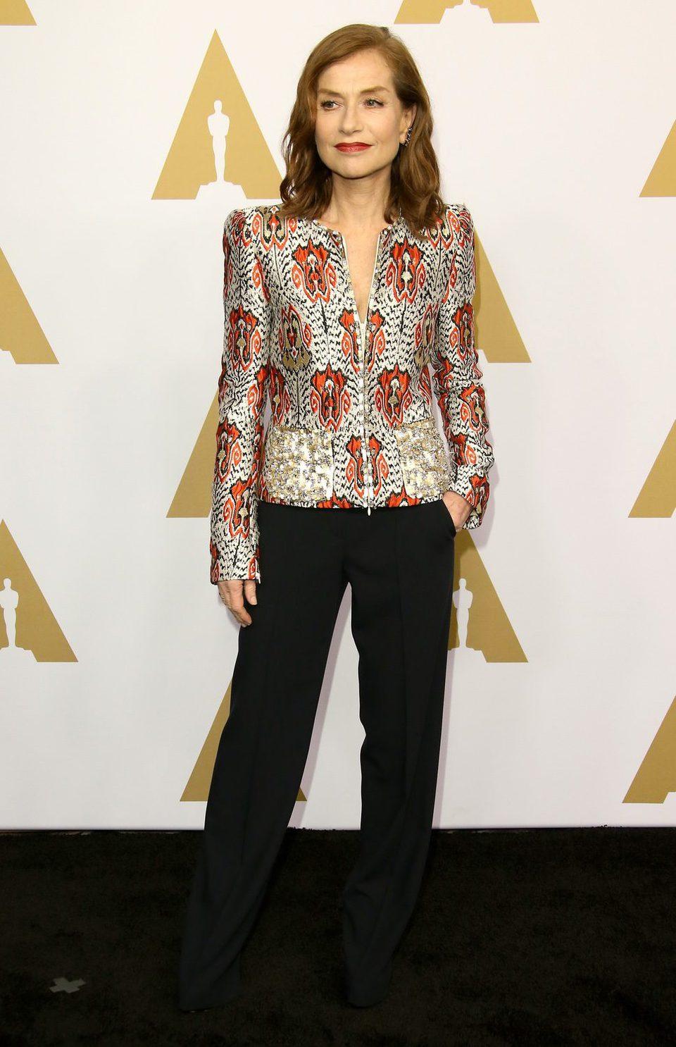 Isabelle Huppert en la Comida Anual de los Nominados en los Premios Oscar 2017