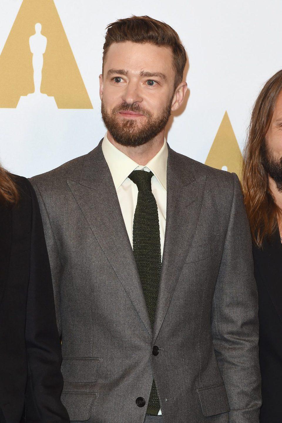 Justin Timberlake en la Comida Anual de los Nominados en los Premios Oscar 2017