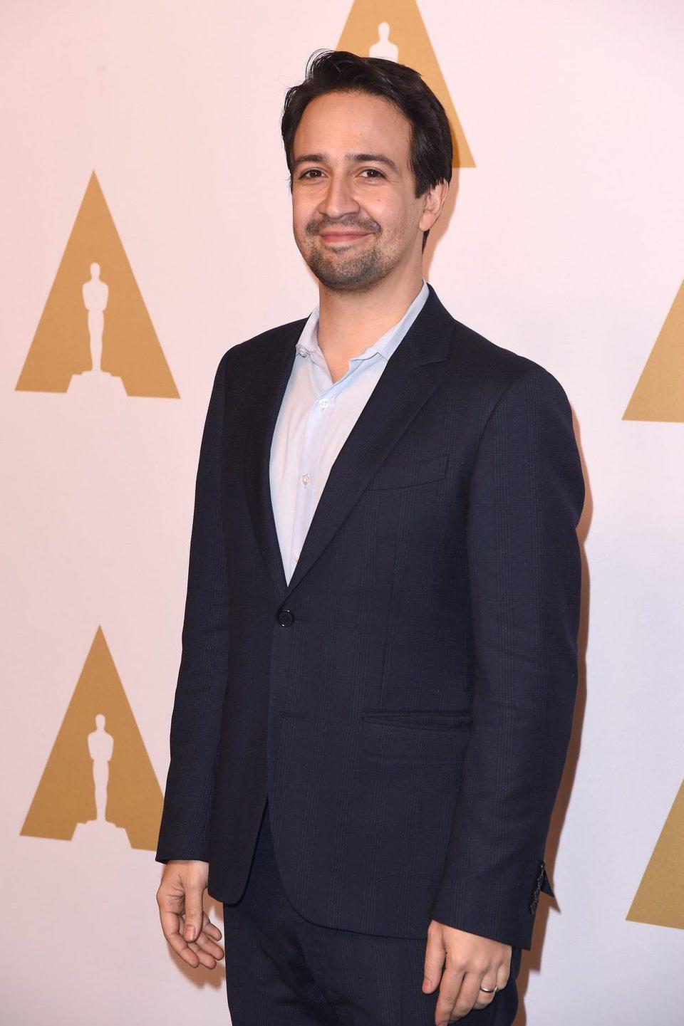 Lin-Manuel Miranda en la Comida Anual de los Nominados en los Premios Oscar 2017