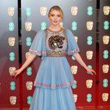 La actriz de 'Múltiple', Anya Taylor-Joy, en la alfombra roja de los BAFTA 2017