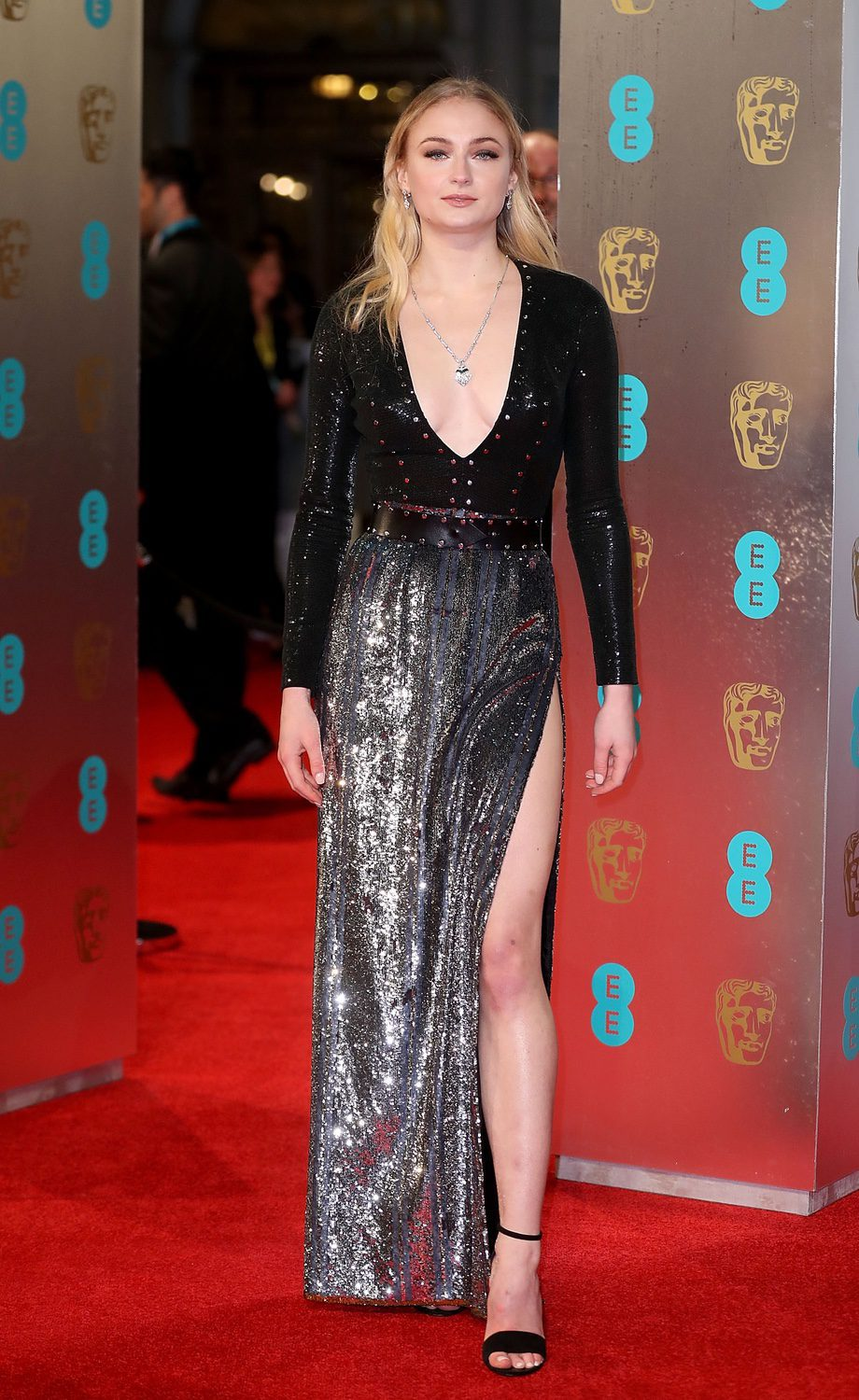 Sophie Turner At The Red Carpet Bafta 2017 Photos At