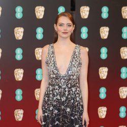 La protagonista de 'La La Land', Emma Stone, en los BAFTA 2007