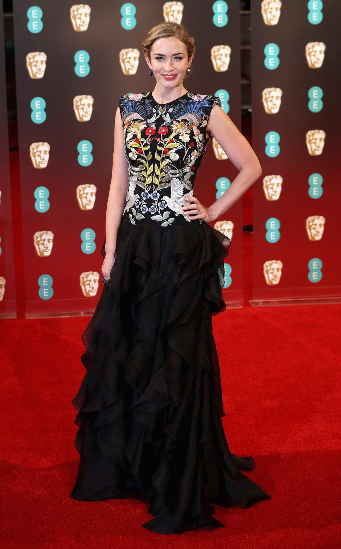 Emily Blunt posa en la alfombra roja de los BAFTA 2007