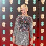 Michelle Williams en la alfombra roja de los BAFTA 2017
