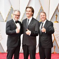 Rich Moore, Byron Howard and Jared Bush at the Oscars 2017 red carpet
