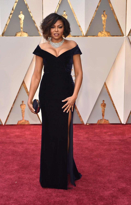 Taraji P. Henson en la alfombra roja de los Premios Oscar 2017
