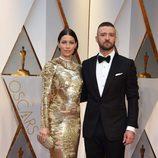 Jessica Biel y Justin Timberlake en la alfombra roja de los Premios Oscar 2017