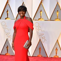 Viola Davis at the red carpet of the Oscars 2017