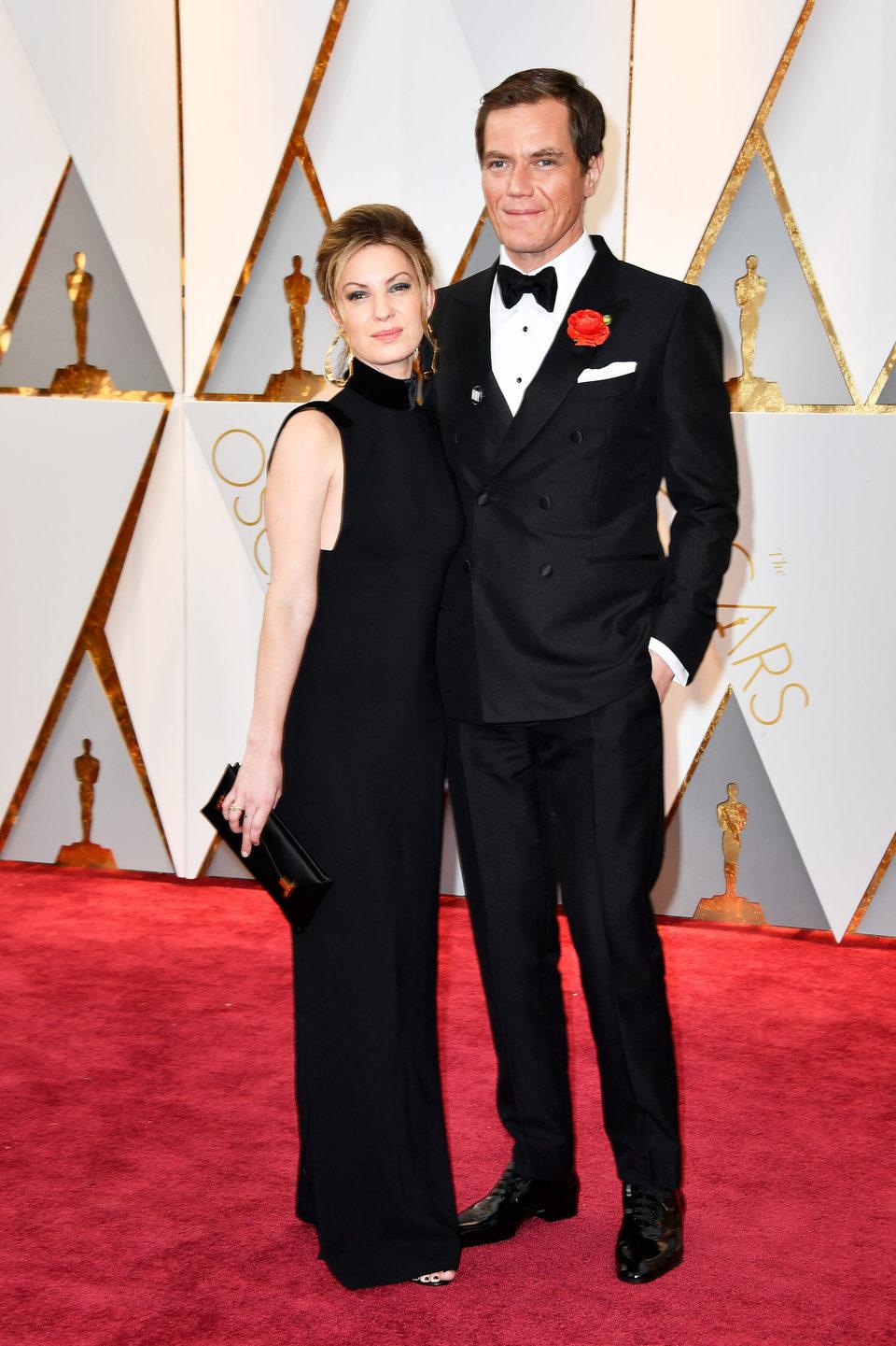 Michael Shannon y Kate Arrington en la alfombra roja de los Oscar 2017