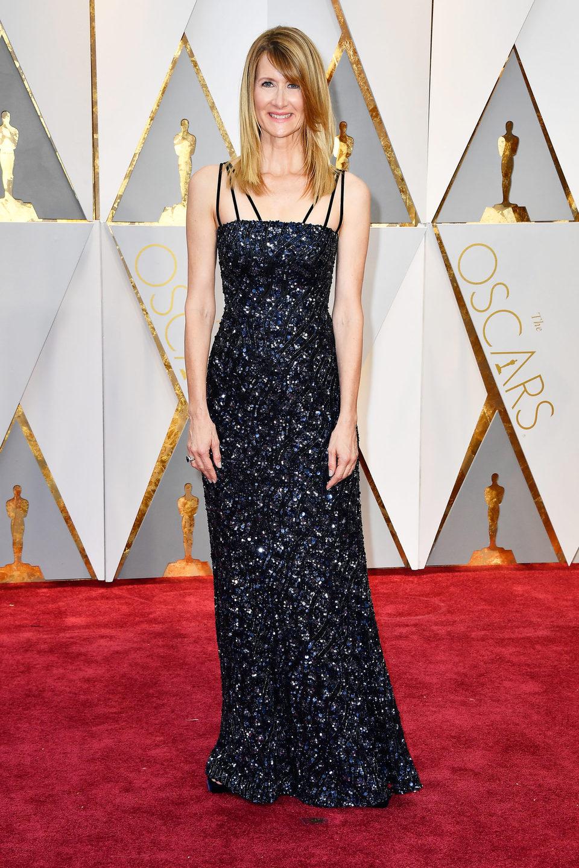 Laura Dern en la alfombra roja de los Oscar 2017