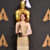 Emma Stone ganadora del Oscar a la Mejor Actriz por 'La La Land'