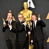 Byron Howard, Rich Moore y Clark Spencer, ganador del Oscar a Mejor Película Animada por 'Zootrópolis'