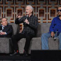 Warwick Davis, Anthony Daniels y Billy Dee Williams en la Star Wars Celebration