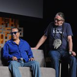 Billy Dee Williams y Peter Mayhew durante la Star Wars Celebration