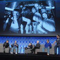 George Lucas y parte del elenco de 'Star Wars' en la Star Wars Celebration