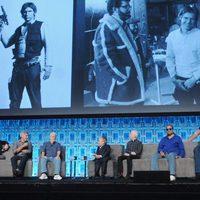 Mark Hamill y el resto del equipo de 'Star Wars' en la Star Wars Celebration