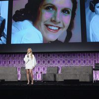 Billie Lord in the Carrie Fisher's tribute in the Star Wars Celebration