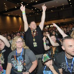 Fans de la saga de 'Star Wars' durante la Star Wars Celebration