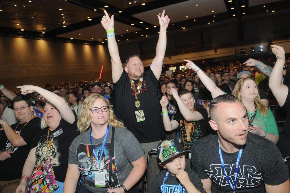 Fans de la saga de 'Star Wars' durante la Star Wars Celebration