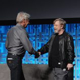 Mark Hamill y Harrison Ford en la Star Wars Celebration