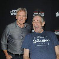 Harrison Ford y Peter Mayhew en la Star Wars Celebration