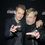 Mark Hamill y Hayden Christensen durante la Star Wars Celebration