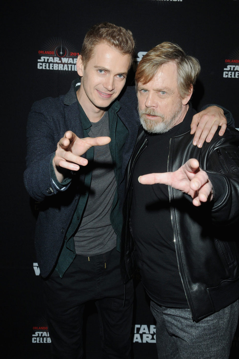 Mark Hamill y Hayden Christensen durante la Star Wars Celebration