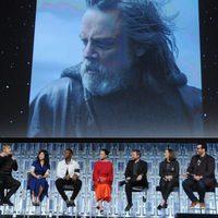 Imagen de Luke en el panel de 'Los últimos Jedi' en la Star Wars Celebration