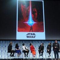 Poster de 'Los últimos Jedi' en el panel de la Star Wars Celebration