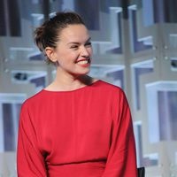 Daisy Ridley at the panel of 'The last Jedi' in the Star Wars Celebration