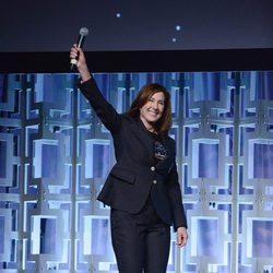 La productora Kathleen Kennedy en el panel de 'Los últimos Jedi' en la Star Wars Celebration