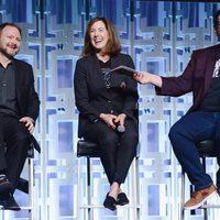 Ryan Johnson, Kathleen Kennedy y Josh Gad, en el panel de 'Los últimos Jedi' en la Star Wars Celebration