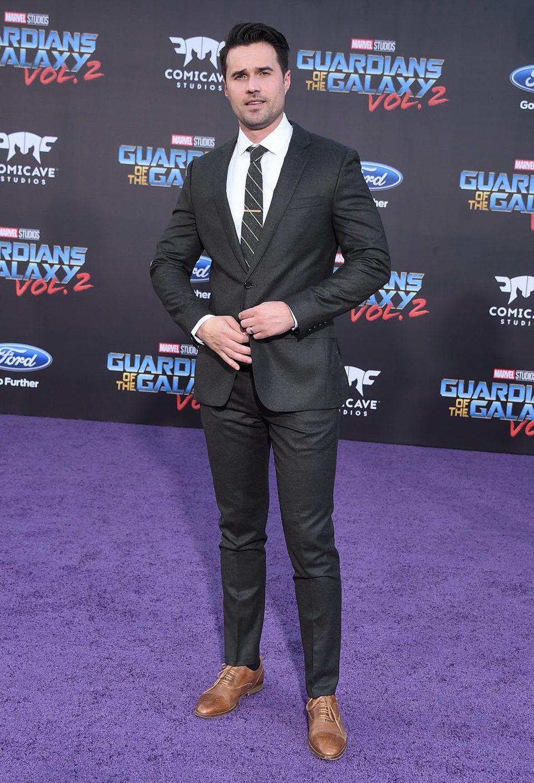 Brett Dalton en la premiere mundial de 'Guardianes de la galaxia Vol. 2'