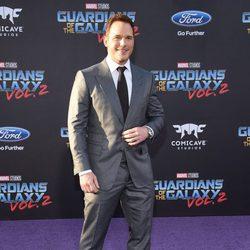 Chris Pratt en la premiere mundial de 'Guardianes de la galaxia Vol. 2'