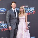 Chris Pratt y Anna Faris en la premiere mundial de 'Guardianes de la galaxia Vol. 2'