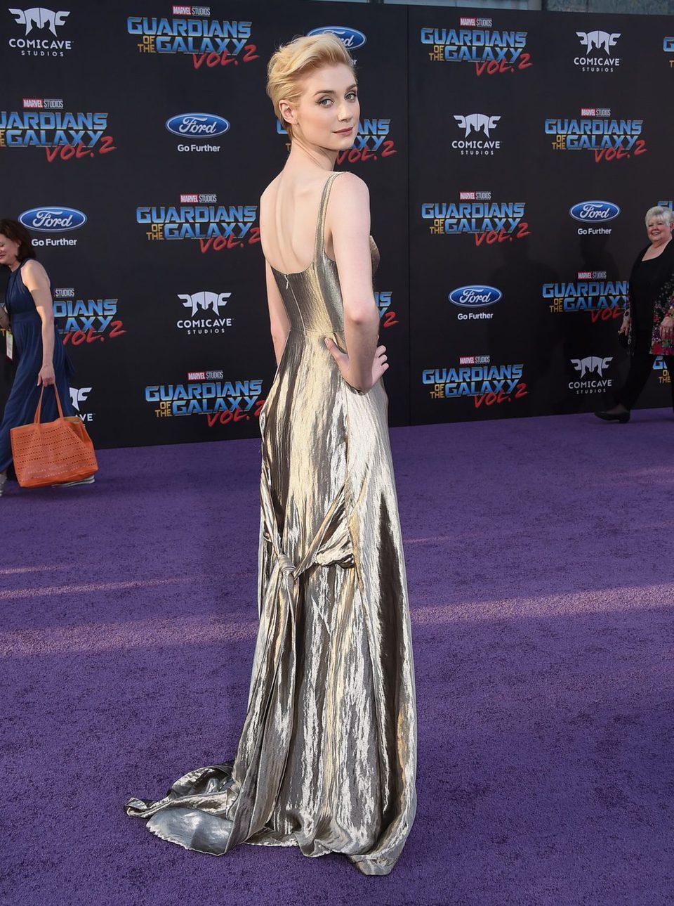 Elizabeth Debicki en la premiere mundial de 'Guardianes de la galaxia Vol. 2'