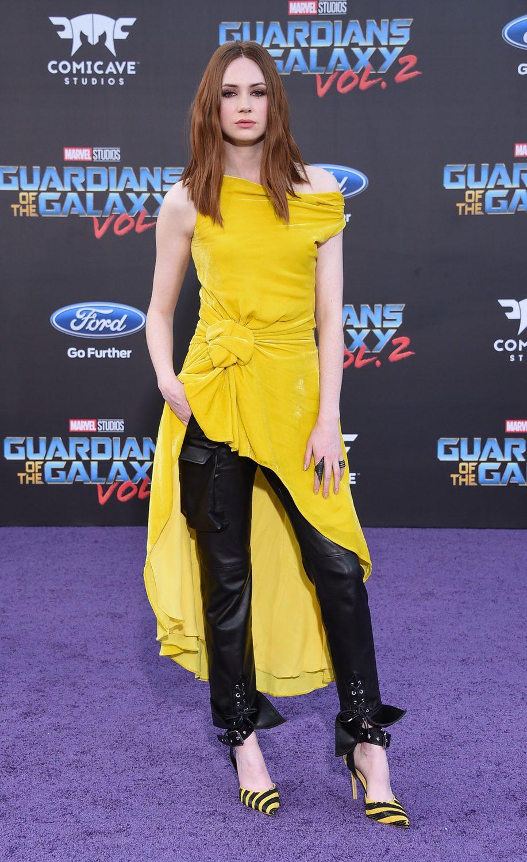 Karen Gillan en la premiere mundial de 'Guardianes de la galaxia Vol. 2'