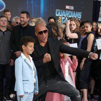 Vin Diesel y su hijo en la premiere mundial de 'Guardianes de la galaxia Vol. 2'