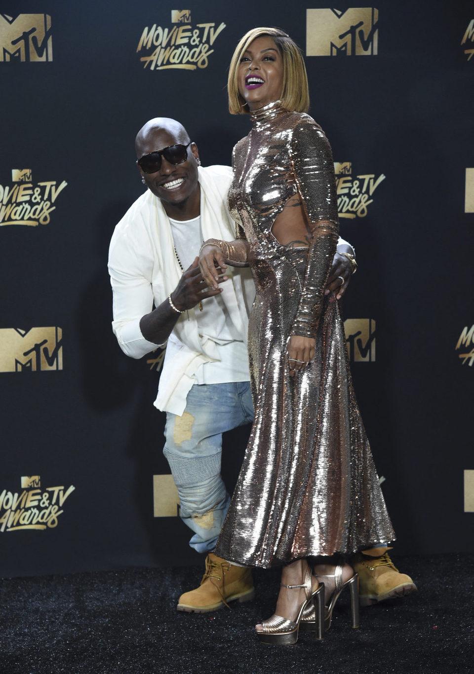 Taraji P. Henson y Tyrese Gibson durante los MTV Movie & TV Awards 2017