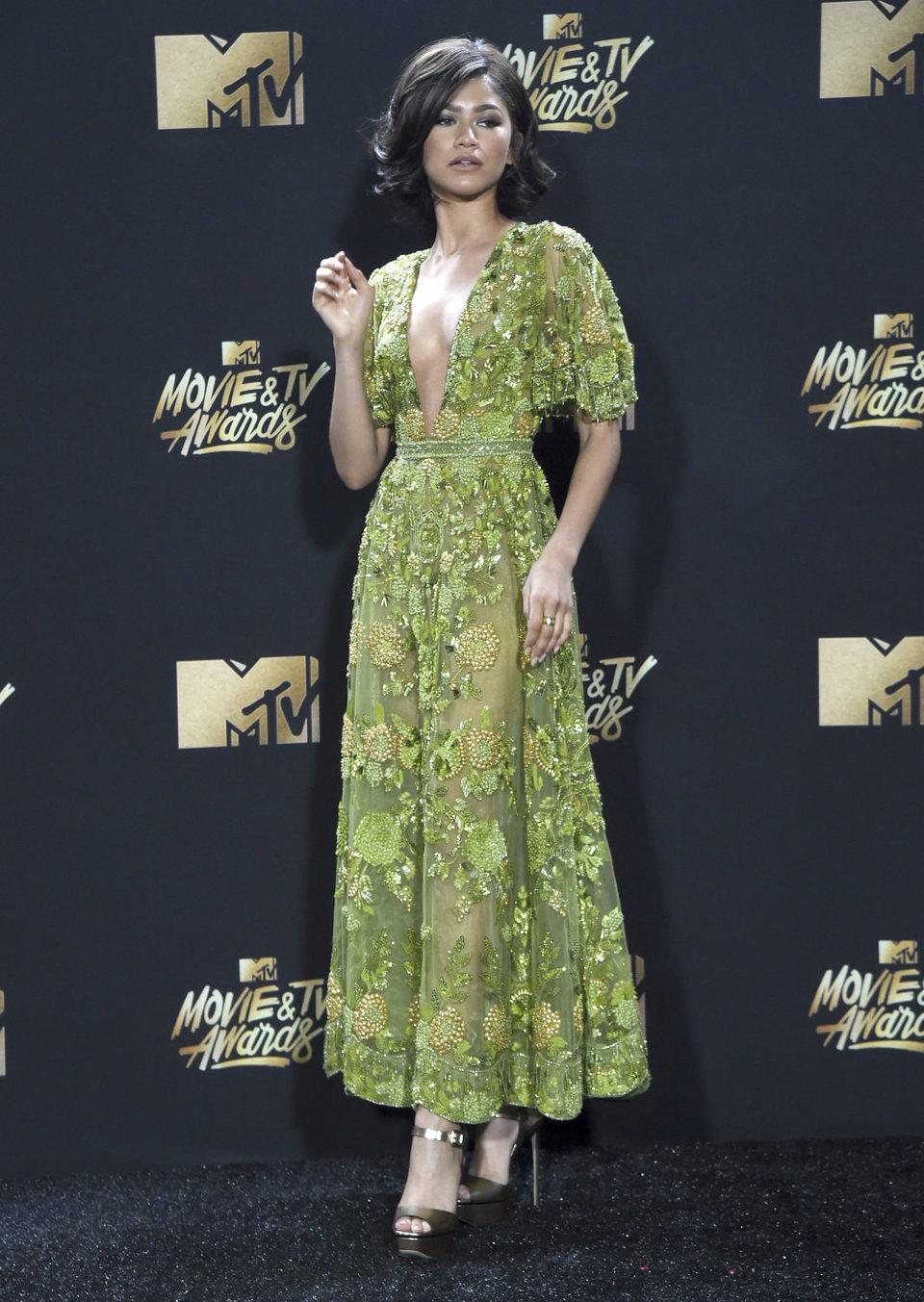 Zendaya en la alfombra roja de los MTV Movie & TV Awards 2017