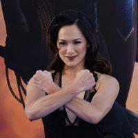 Samantha Jo  en la premiere de 'Wonder Woman' #2