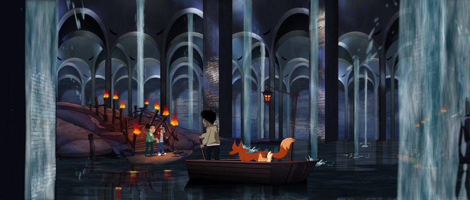 Nur y el templo del dragón, fotograma 1 de 2