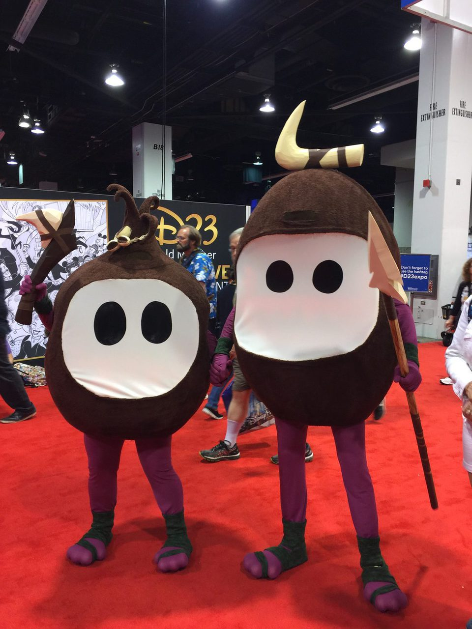 Fans Dressed Up Like Kakamora Pirates From Moana In The D23 Photos