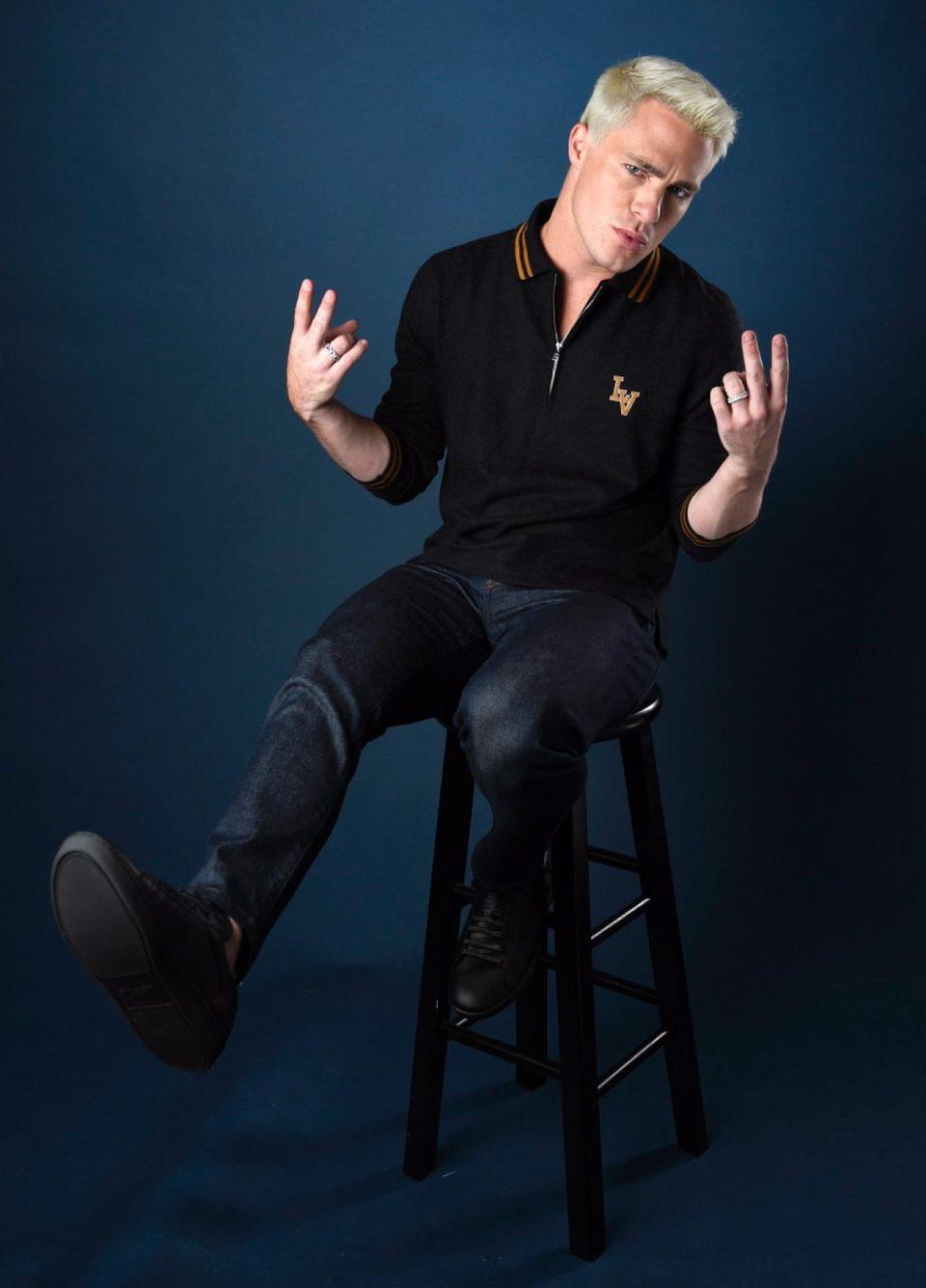 Colton Haynes posa para un retrato en la Comic-Con 2017