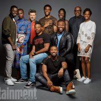 El equipo de 'Black Panter' posa durante la Comic-Con 2017