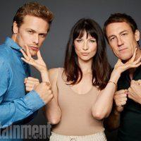 El reparto de 'Outlander' posa durante la Comic-Con 2017