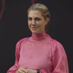 Barbara Muschietti sonríe a los periodistas con motivo de la presentación de 'It' en Madrid