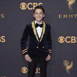 Noah Schnapp en la alfombra roja de los premios Emmy 2017